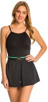 Tommy Hilfiger Signature Solids High Neck Swim Dress 8142671