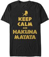Fifth Sun Men's Tee Shirts BLACK - Black 'Keep Calm and Hakuna Matata' Tee - Men