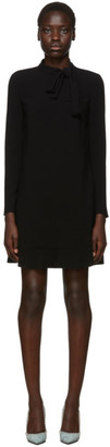 RED Valentino Black Fluid Crepe Dress