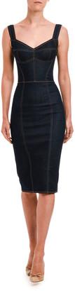 Dolce & Gabbana Sleeveless Stretch Denim Pencil Dress