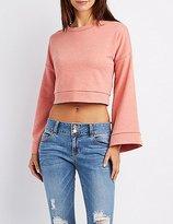 Charlotte Russe Bell Sleeve Pullover Sweatshirt