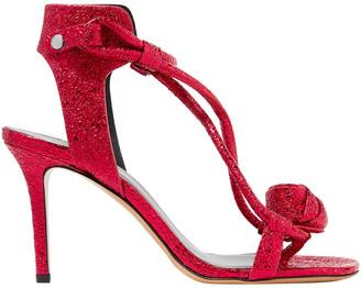 Etoile Isabel Marant Ablee Metallic Cracked-leather Sandals