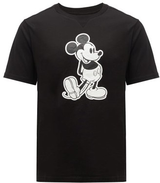 TAKAHIROMIYASHITA TheSoloist. Mickey Mouse-print Cotton-jersey T-shirt - Black