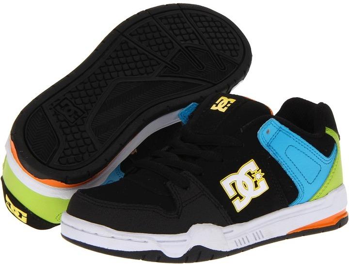 DC Kids - Mongrel (Little Kid) (Black/White/Yellow) - Footwear