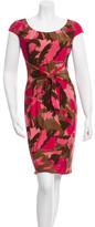 David Meister Printed Knee-Length Dress w/ Tags