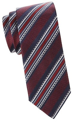 Canali Textured Silk Stripe Tie
