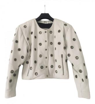 Non Signã© / Unsigned Oversize White Leather Jackets