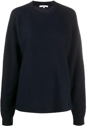 Tibi Two-Fabric Woven Sweater