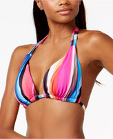 LaBlanca La Blanca Over the Horizon Striped Triangle Halter Bikini Top