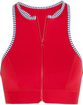 Duskii Iao Valley Neoprene Bikini Top - Red