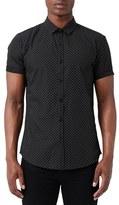 Topman Men's Dot Print Short Sleeve Shirt