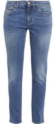 Roberto Cavalli Embroidered Mid-rise Slim-leg Jeans