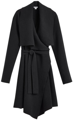 Cuyana Wool Cashmere Short Wrap Coat