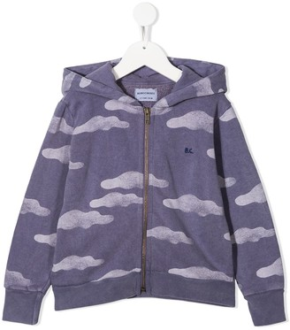 Bobo Choses Cloud Print Zipped-Front Hoodie