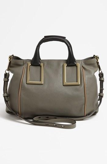 Chloé 'Ethel - Medium' Leather Tote Cashmere Grey