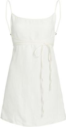 Anemos The K.M.Tie Linen Mini Dress