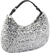 Bisadora Black and White Faux Fur Large Hobo