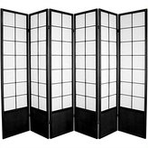Oriental Furniture Big Larger Largest Extra Wide Wider Folding Partition, 6-Feet Zen Folding Privacy Floor Screen Room Divider