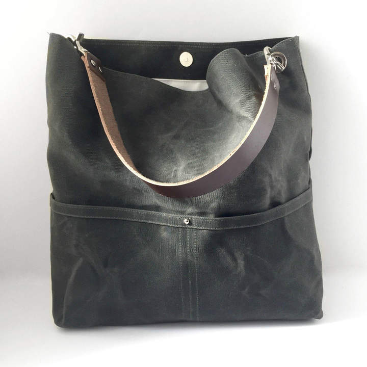 Independent Reign Waxed Canvas Tote Bag - Dark Olive