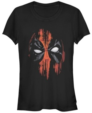 Fifth Sun Marvel Women's Dead Pool Faded Paint Face Short Sleeve Tee Shirt
