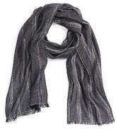 BOSS ORANGE Men's Nabril Stripe Cotton Blend Scarf