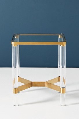 Anthropologie Oscarine Lucite End Table By in Gold