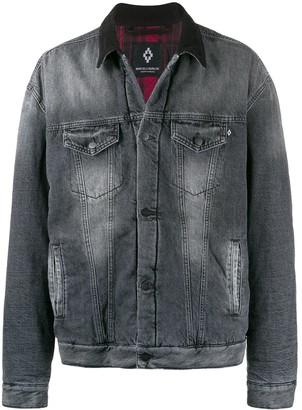 Marcelo Burlon County of Milan worn-effect denim jacket