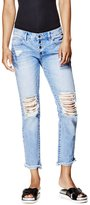 GUESS Button-Front Tomboy Jeans