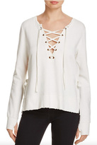Pam & Gela Lace Up Front Sweatshirt