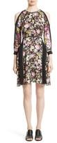 3.1 Phillip Lim Women's Meadow Flower Print Silk Cold Shoulder Dress