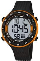 Calypso Unisex Digital Watch with LCD Dial Digital Display and Black Plastic Strap K5663/3
