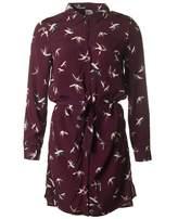 Saint Tropez Bird Print Shirt Dress