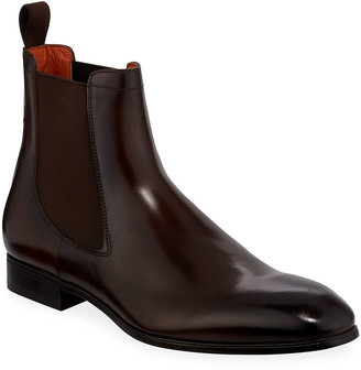 Santoni Men's Luna Leather Chelsea Boots