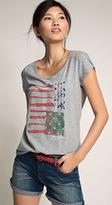 Esprit OUTLET cut-out sleeve t-shirt