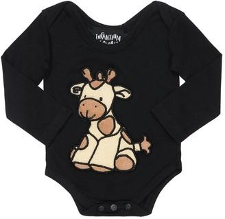 Infantium Victoria Giraffe Organic Cotton Jersey Bodysuit