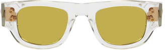 Dita Transparent and Yellow Muskel Sunglasses