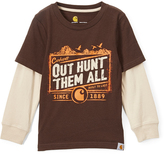 Carhartt Mustang Brown 'Out Hunt Them All' Layered Tee - Boys