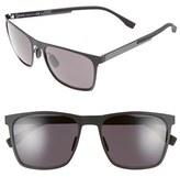 BOSS Men's 57Mm Retro Sunglasses - Mt Black/ Gray
