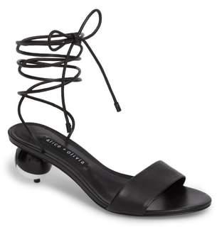 Alice + Olivia Coraline Ankle Tie Sandal