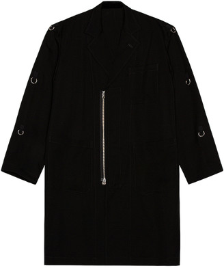 TAKAHIROMIYASHITA TheSoloist. TAKAHIROMIYASHITA The Soloist Doctor Jacket in Black | FWRD