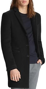 John Varvatos Collection Leather Trim Coat