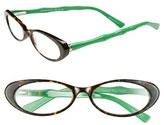 Women's Lilly Pulitzer 'Splash' 50Mm Reading Glasses - Green Tortoise/ Prep Green