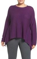 Eileen Fisher Plus Size Women's Ballet Neck Fine Merino Wool Sweater