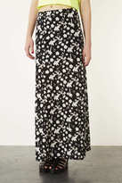Topshop Shadow Floral Jersey Maxi Skirt