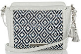 Brahmin Royal Palm Collection Carrie Tasseled Denim Cross-Body Bag