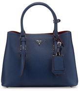 Prada Small East-West Saffiano Tote Bag, Blue (Bluette)