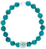 Simon Sebbag Turquoise Bead & Barrel Necklace
