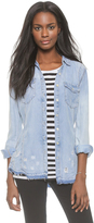 Blank Frayed Chambray Button Down