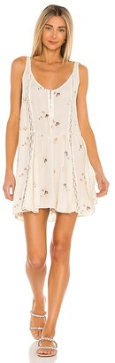 Free People Give A Little Mini Slip Dress