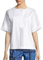 Piazza Sempione Cotton Pleated Top
